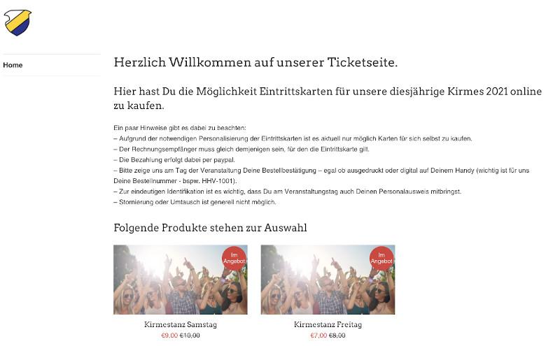 Hohlstedter Kirmes Eintrittskarten online kaufen